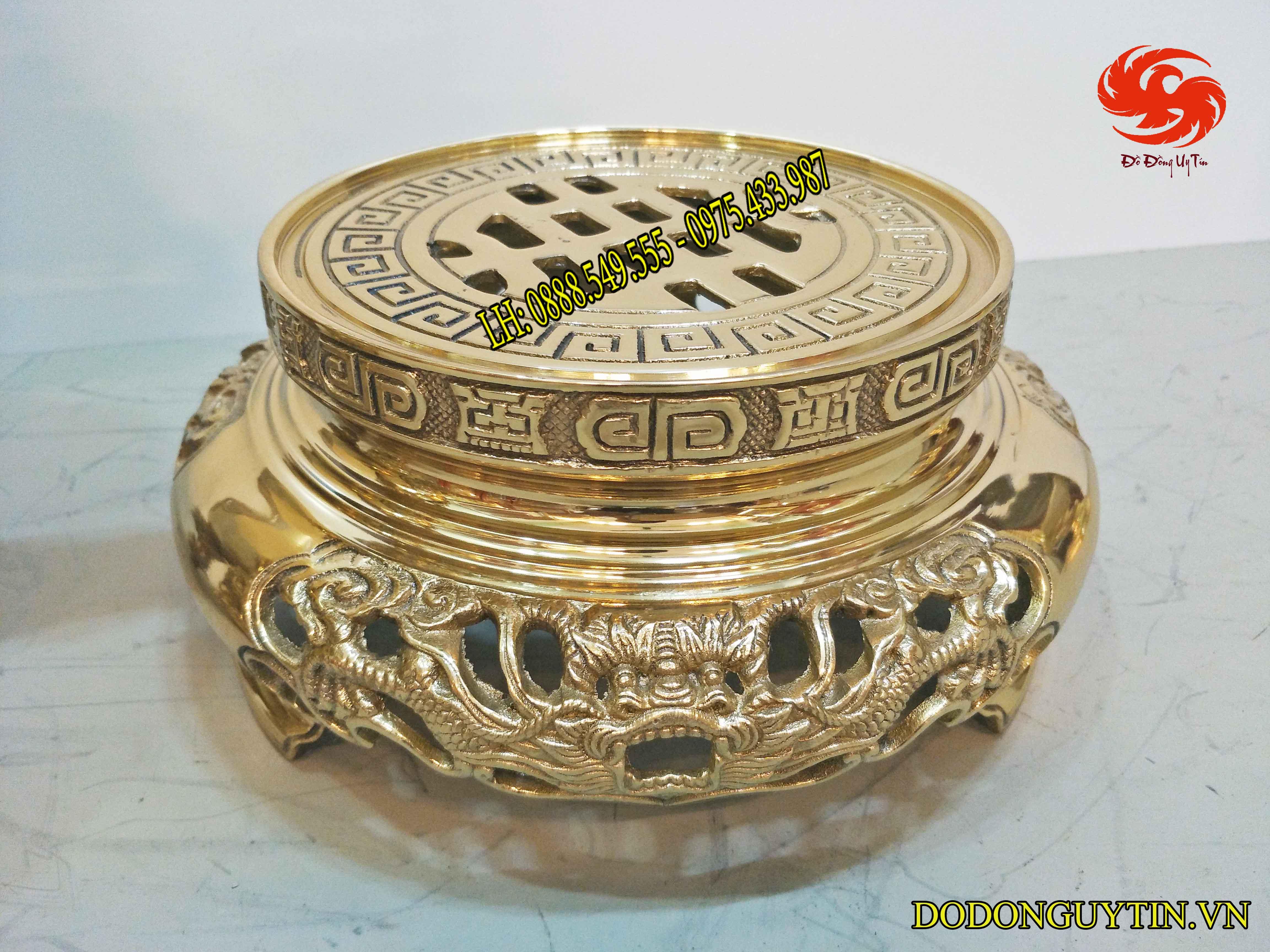Đỉnh đồng vàng liên doanh cao 60 cm