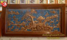 tranh đồng đỏ đồng làng quê Việt Nam