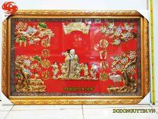 Bức tranh đồng mừng thọ cụ ông 70 x 110