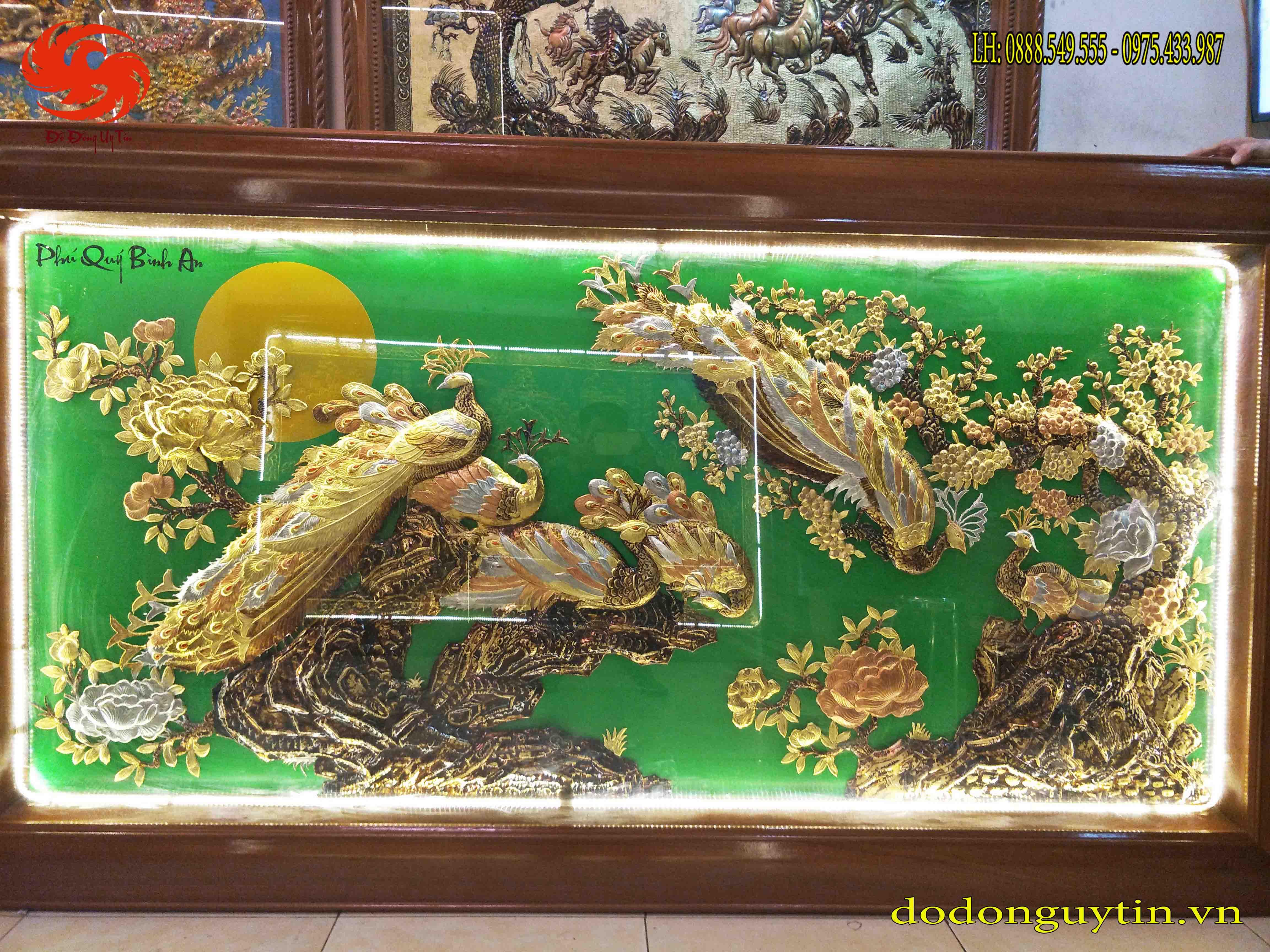 Bức tranh đồng Phú Quý Bình An
