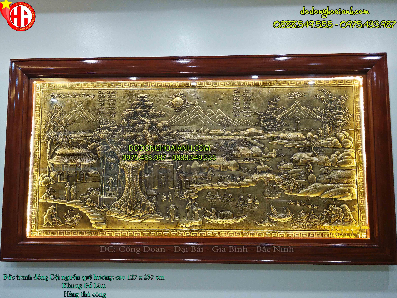 Tranh đồng quê đồng vàng Ngư Tiều Canh Mục