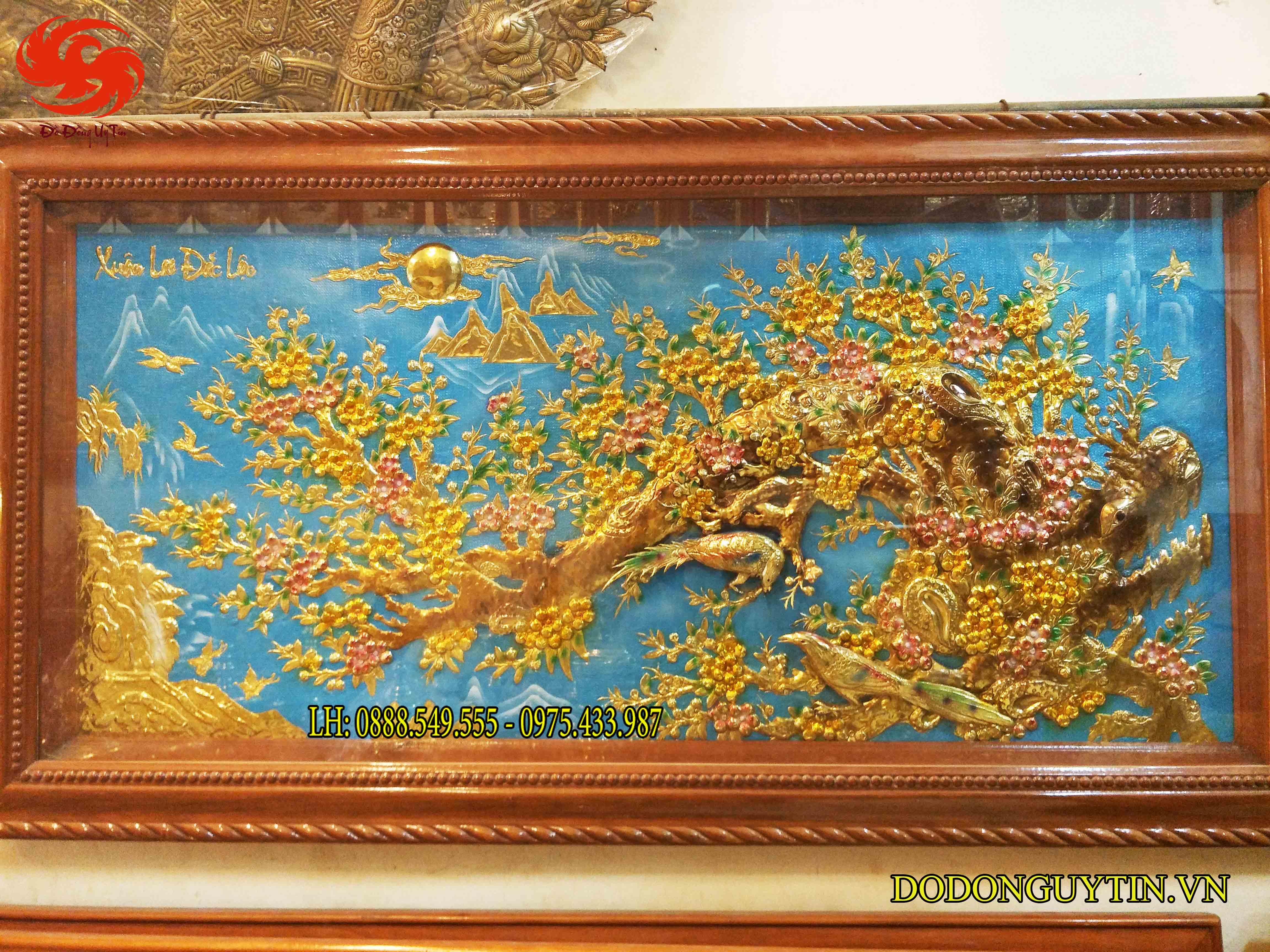 tranh đồng mai hóa rồng - Xuân lai đắc lộc