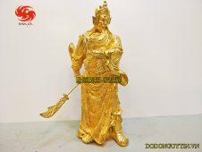 tượng đồng quan công mạ vàng