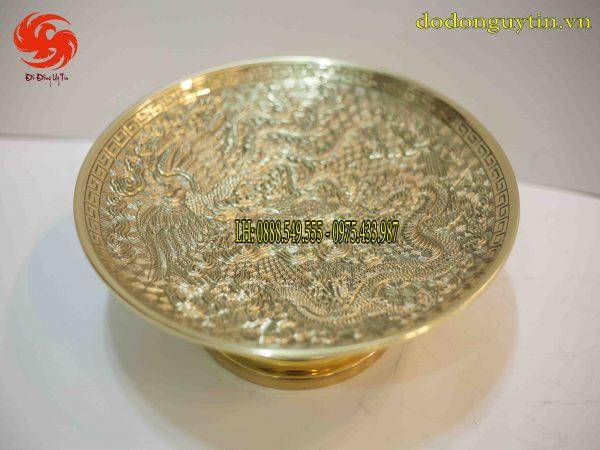 mâm bồng đồng vàng - Đồ đồng uy tín