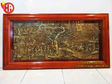 Bức tranh đồng vinh quy bái tổ giả cổ 80 x 155cm