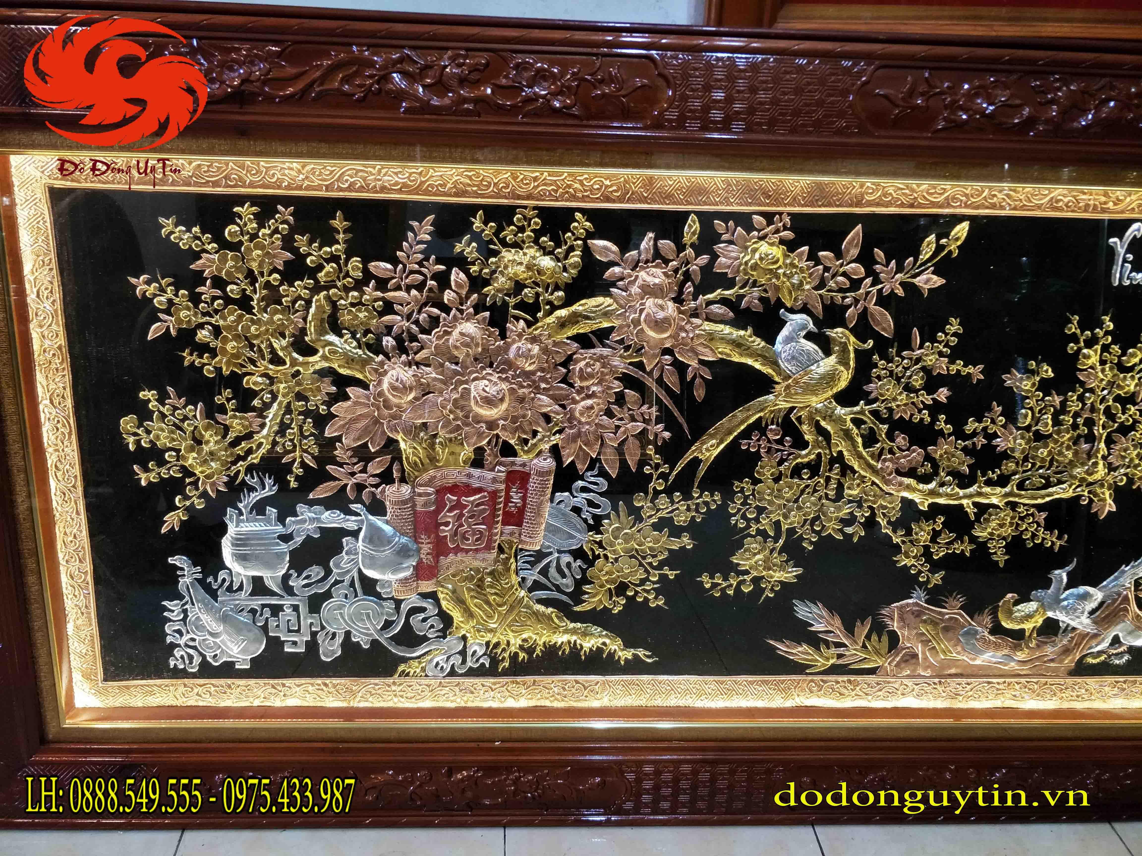 Tranh đồng VInh hoa phú quý - Đồ đồng Uy tín