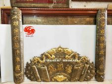 Bộ cuốn thư câu đối dát vàng tinh xảo - Đồ đồng Uy tín