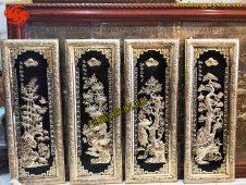 Bộ tranh đồng tứ quý khung bọc đồng - Đồ đồng Uy tín