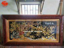 Tranh đồng Vinh hoa phú quý dát vàng - Đồ đồng Uy tín
