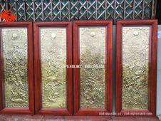 Bộ tranh đồng tứ quý giả cổ - Đồ đồng Uy tín