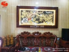 Bức tranh đồng vinh hoa phú quý dát vàng cao cấp