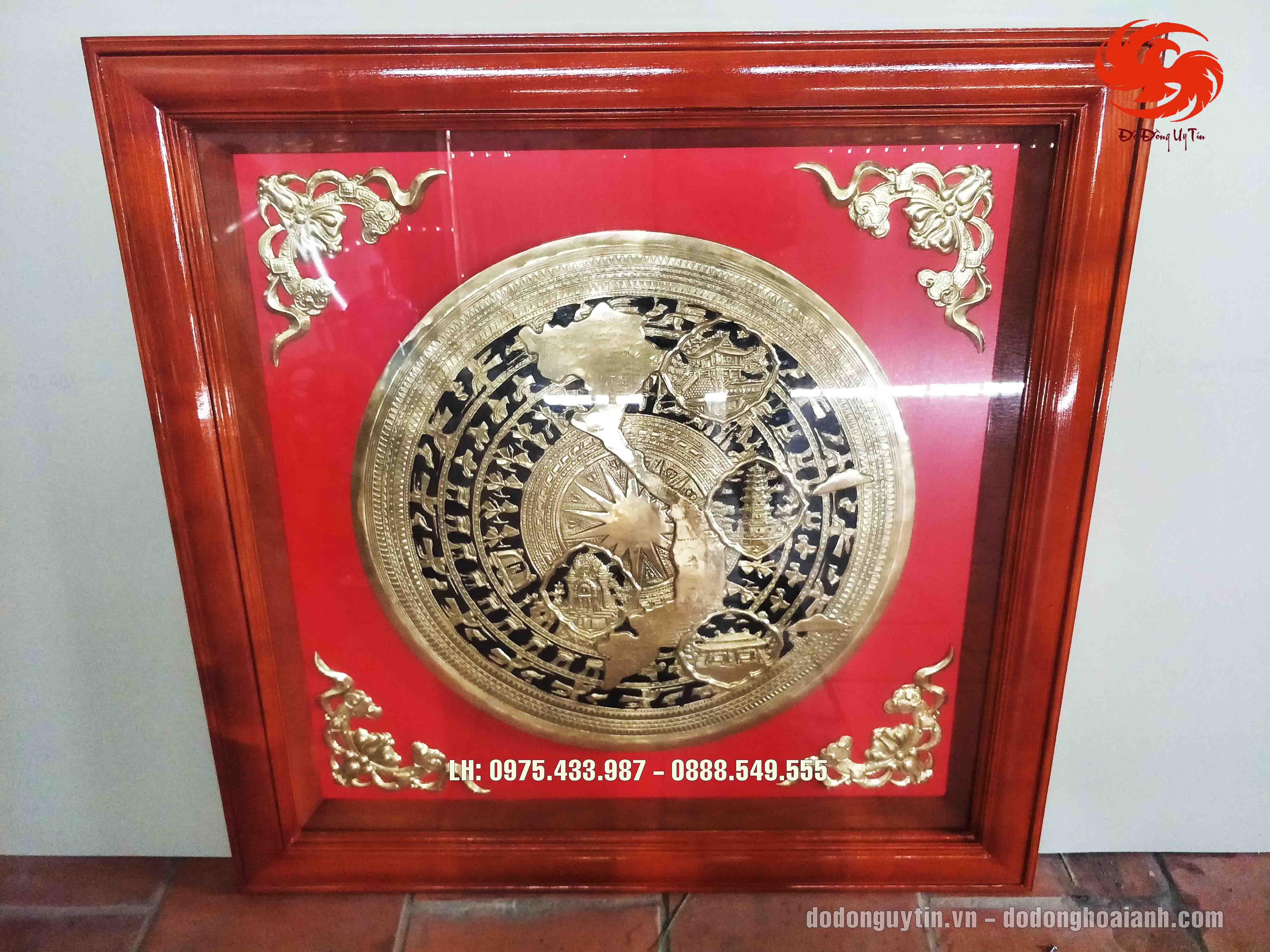 Trống đồng việt nam kích thước 100cm x 100cm