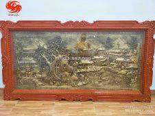 Bức tranh cội nguồn quê hương Việt Nam bằng đồng vàng giả cổ