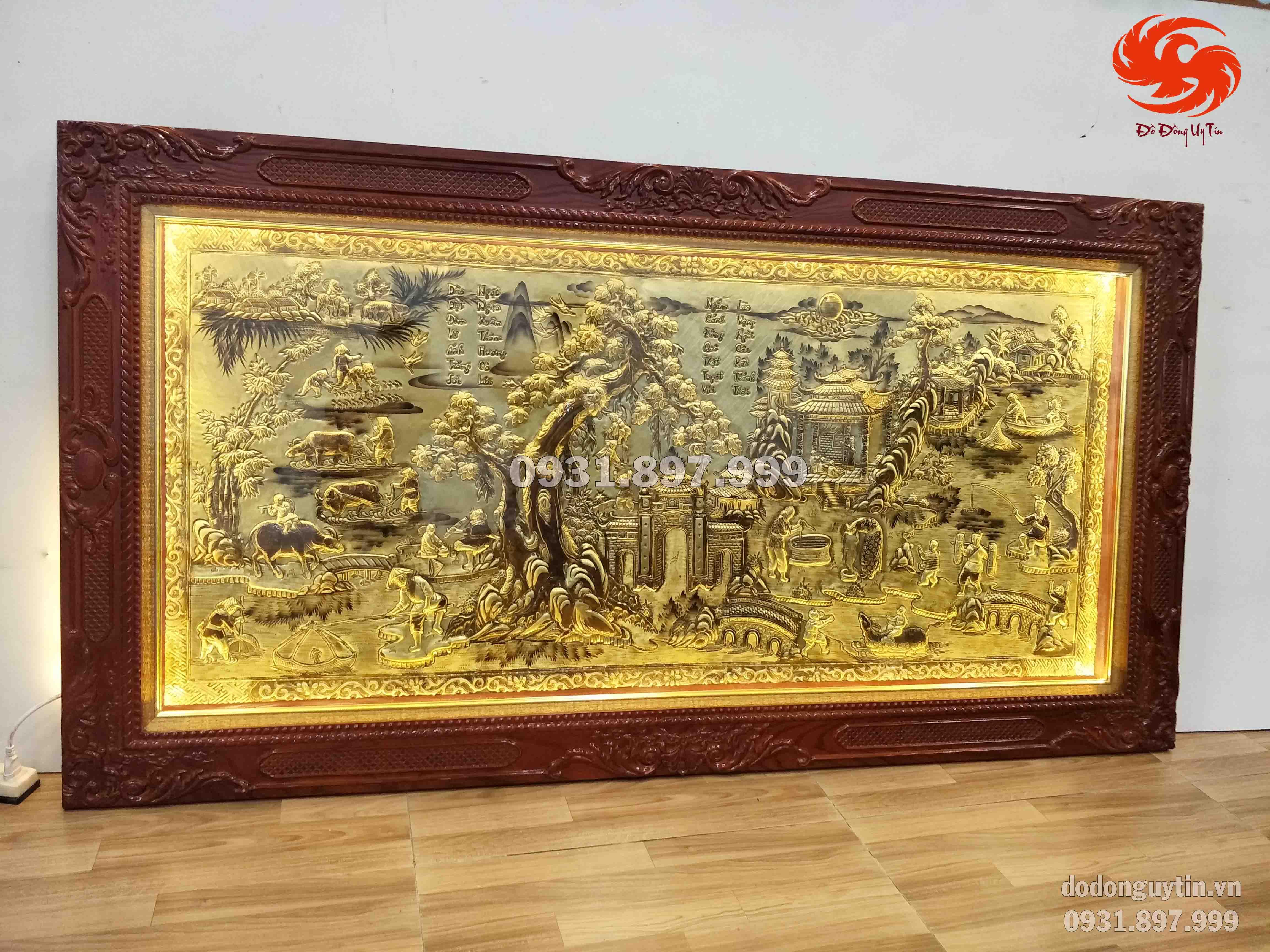 Bức tranh làng quê Việt Nam