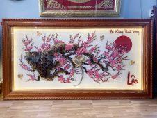 tranh đồng hoa đào, hoa mai ngày tết