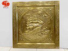 Tranh Thuận buồm xuôi gió khung bọc đồng liền tấm
